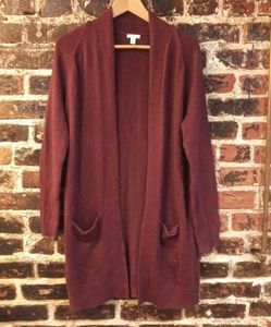 Urban Outfitters Burgundy Cardigan Sweater XS